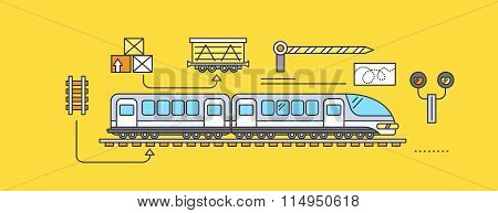 Concept of Freight Forwarding Rail