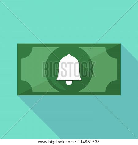 Long Shadow Banknote Icon With A Bell