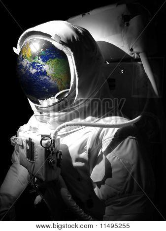 Homem de espaço do astronauta