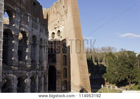 Outer And Inner Walls Of Colosseum
