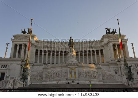 Day View Of The Altar Of The Fatherland In Rome