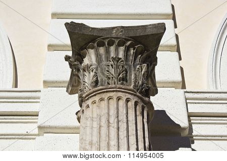 Architectural Close Up Of A Corinthian Column