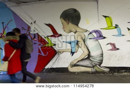 Mural From French Painter Seth Globepainter In Rome