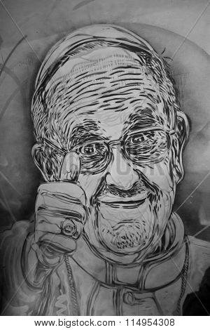 Mural Of Pope Francis