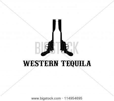 Illustration Of Western Tequila