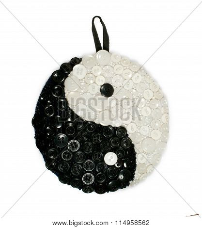 Isolated Yin And Yang Sign