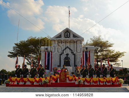 Roi Et, Thailand - January 18: Thai Armed Forces Vows In 6Th Infantry Brigade Roi Et On January 18,