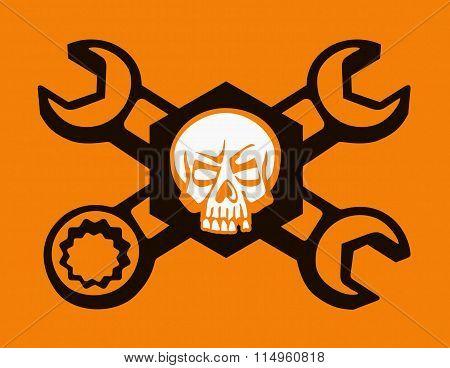 Skull mechanics sign