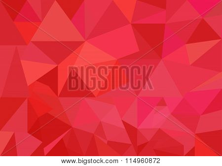 Low poly style vector, Red  low poly design, low poly style illustration, Abstract low poly backgrou