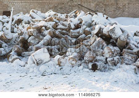Firewood Lie Heaped
