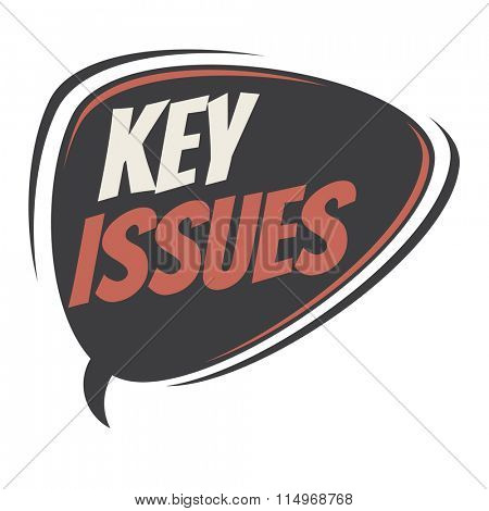 key issues retro speech balloon