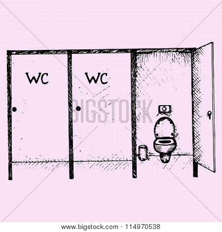 public toilet cubicle
