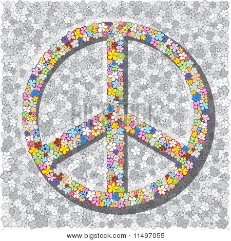 Sign Of The Pacifist On Gray Background.