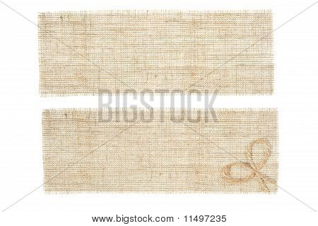 Set Of Sackcloth Tags