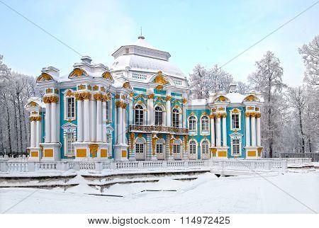 Tsarskoye Selo (Pushkin), Saint-Petersburg, Russia. The Hermitage Pavilion