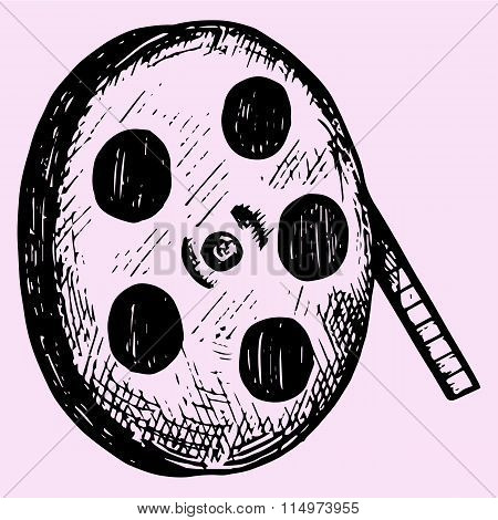 Realistic reel of film