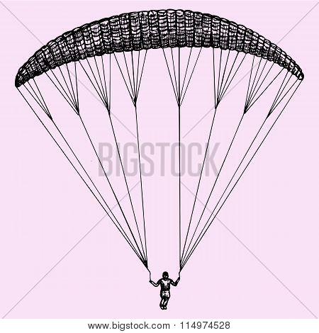 Paragliding, parachute, extreme sport
