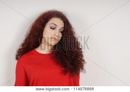 teenage girl feeling down