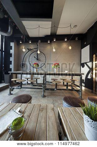 Retro Coffee Bar Interior