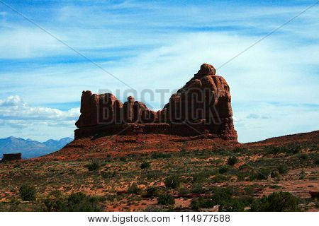 Courthouse Rock In Arches National Park