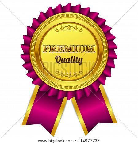 Premium Quality Pink Seal, Label Vector Icon