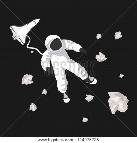 Illustration Of Astronaut In Space