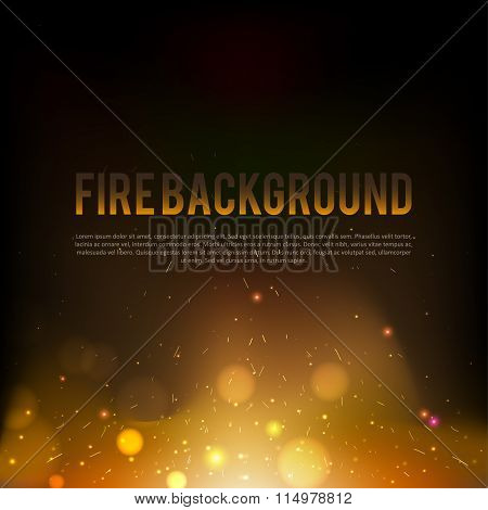 abstract red fire background eps 10 darken