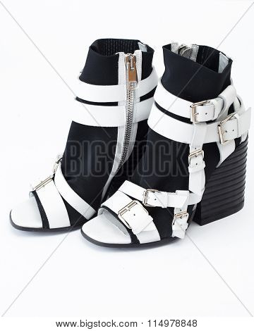 Stylish Black And White Shoes