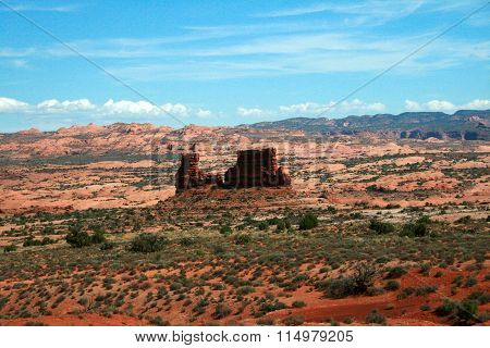 Red Rock Formations Arches National Park