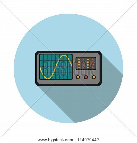 Flat Icon Oscilloscope