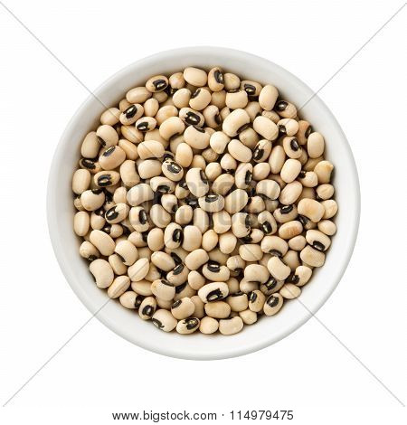 Black-eyed Peas In A Ceramic Bowl