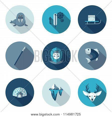 flat icons eskimo