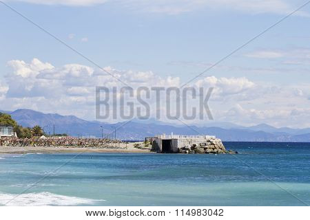 Promontory Over Blue Sea