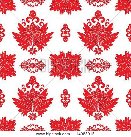Stock Vector Seamless Orient Floral Pattern,