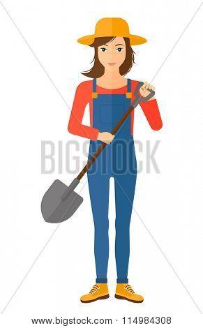 Farmer with spade.