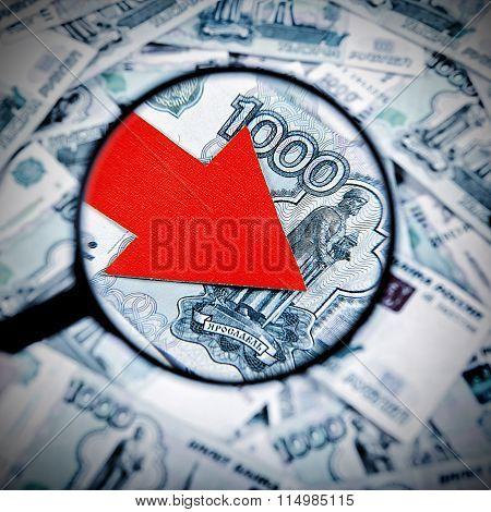 Russian Ruble Down