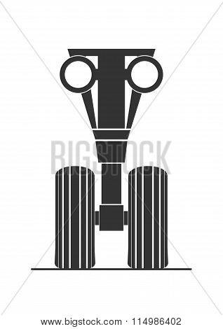 Silhouette Of Front Landing Gear