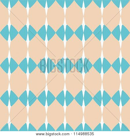 Tile pastel, mint green and white vector pattern