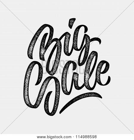 Black Big Sale Calligraphy Lettering Badge