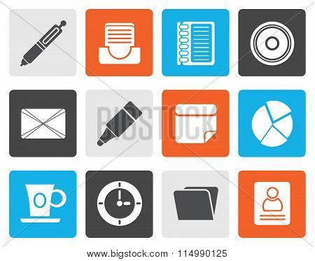 Flat Office & Business Icons