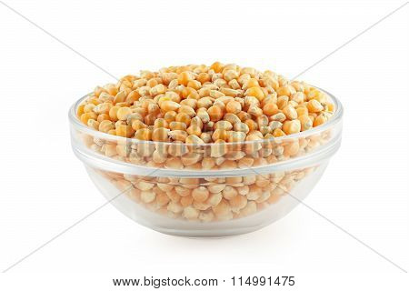 glass bowl with corn grain