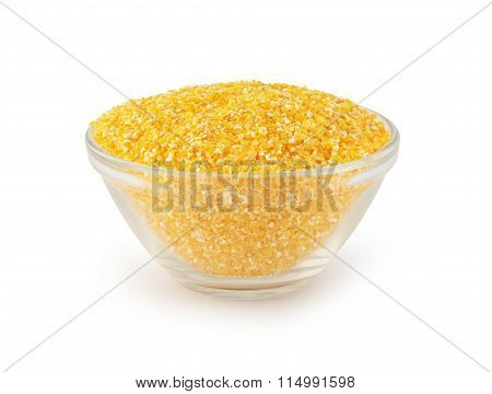 glass bowl with maize grits