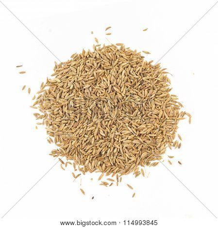 Zira seeds isolated on white background