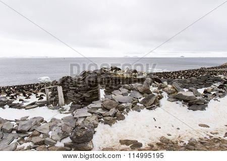Stone Hut, Paulet Island, Antarctica