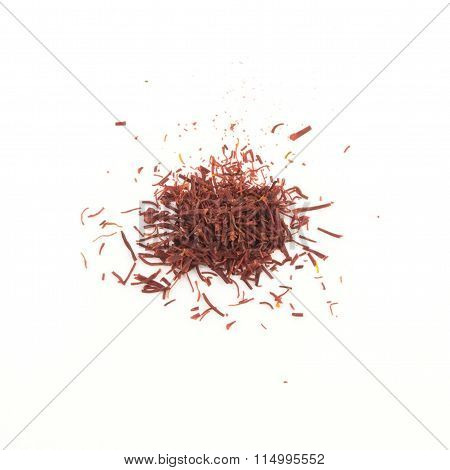 Saffron - dried pistils, for cooking on white