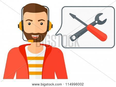Operator of technical support.