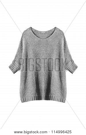 Gray Pullover Isolated