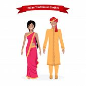 Постер, плакат: Indian Traditional Clothes People