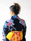 Asian Girl Wearing Yukata poster