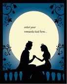 picture of juliet  - silhouette of prince and proincess on a balcony at night - JPG
